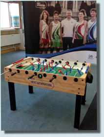 branded football table