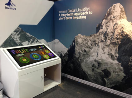 multitouch table exhibition hire