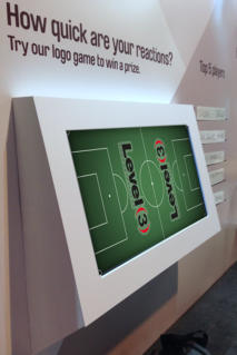 multitouch screen exhibition hire