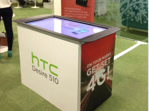 multitouch screen hire