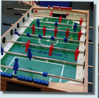 football table exhibition stand